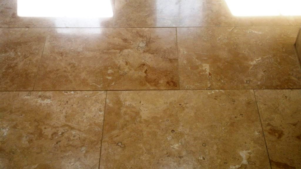 Travetine Tiles in Fareham After Cleaning