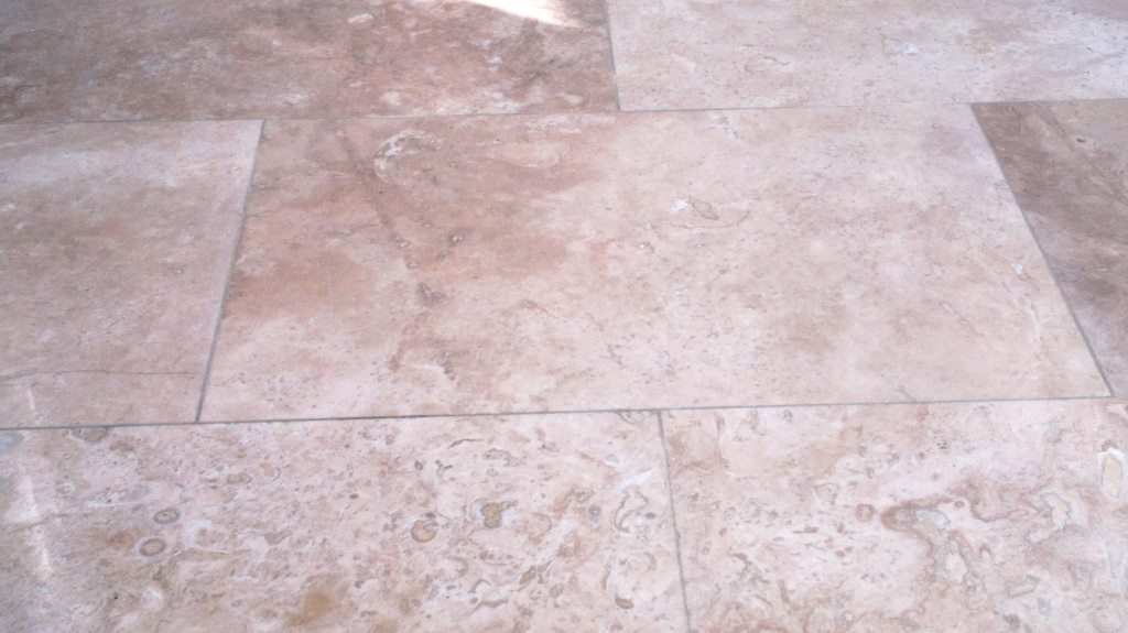 Travetine Tiles in Fareham Before Cleaning