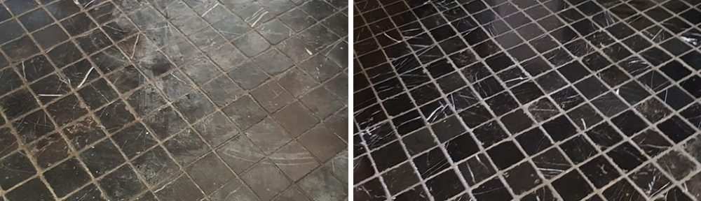 Acid Damaged Marble Kitchen Floor Restored in Winchester