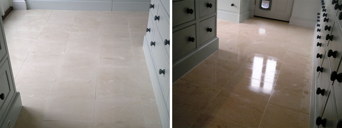 Cleaning Porcelain Tile and Grout in Warsash Before and After