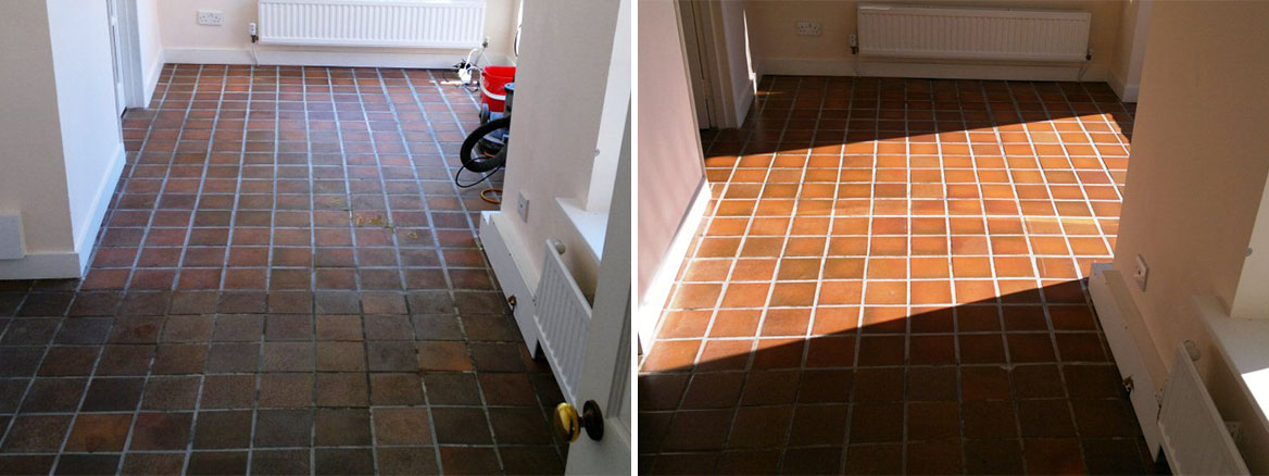 Quarry Tile Restoration in Fareham