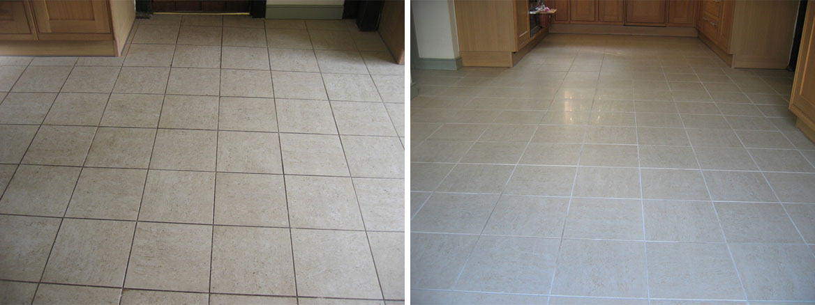 Kitchen Ceramic Tile and Grout Clean in Stockbridge