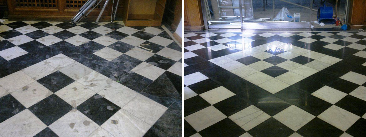 Marble Tiled Floor Restored in Winchester