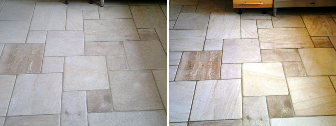 Milled Sandstone floor maintained in Warsash