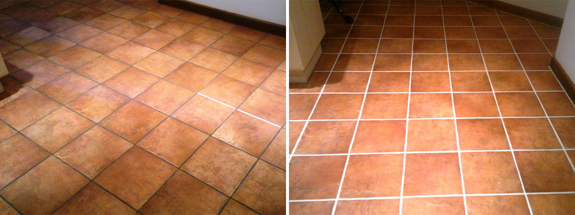 Southampton Grout Recolour Before and After