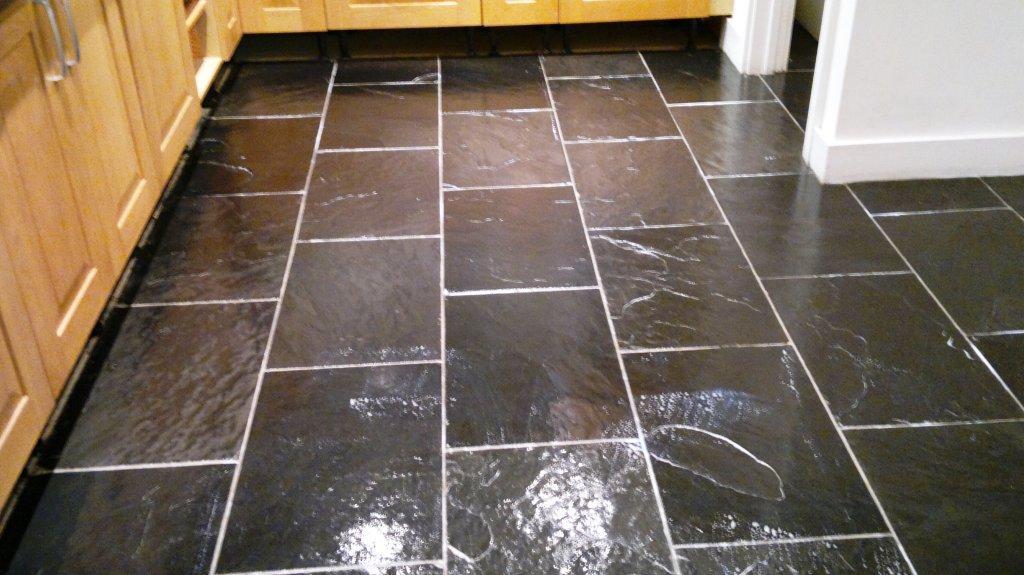 Chinese Black Slate in Basingstoke Cleaned and Sealed