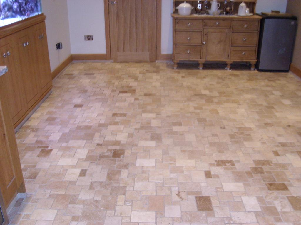 Travertine Tiled Floor Portsmouth Before
