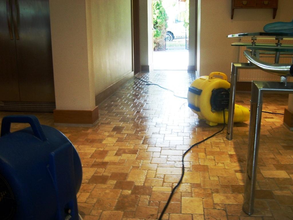 Travertine Tiled Floor Finished