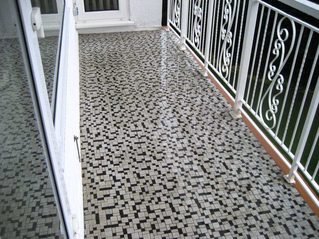 Marble Mosaic Balcony Tile Finished