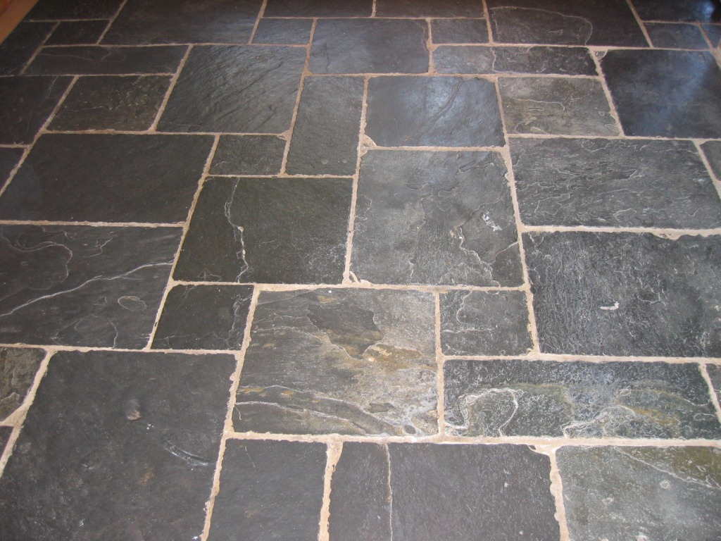 Cleaning Sealing Slate Flagstone Tiles In Fareham Tile Doctor Hampshire