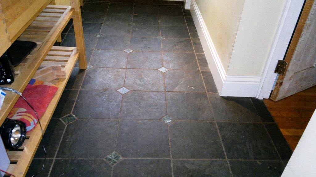Southampton Slate Floor Before