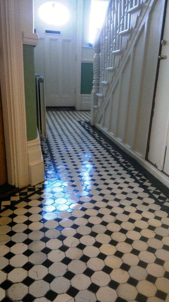 Victorian Tiled Hallway Floor Finished
