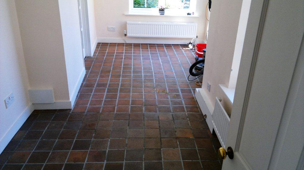 Fareham Quarry Tiled Floor Begin