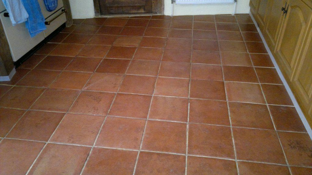 Restoration Of Terracotta Floor In A Kitchen Area Stone