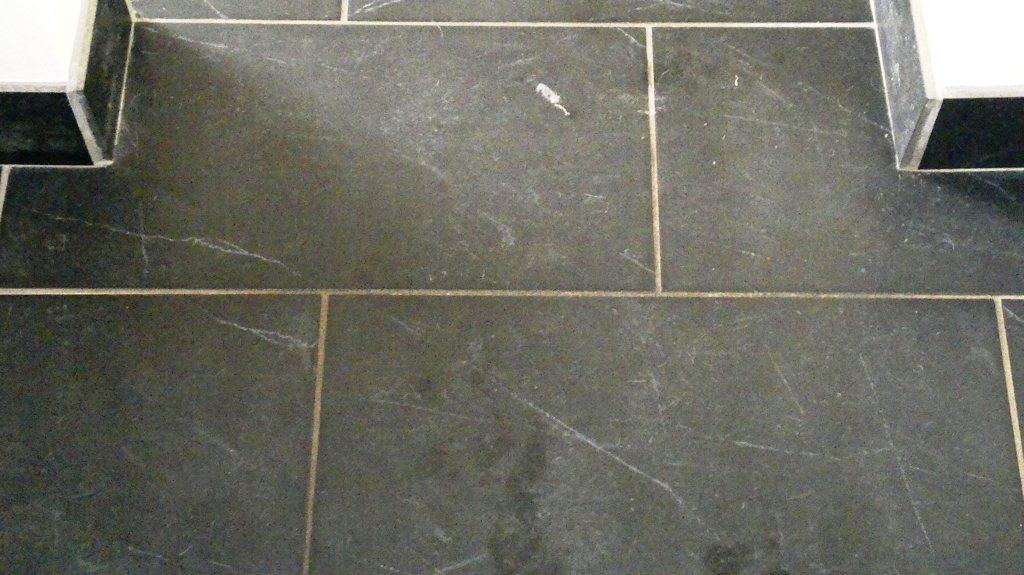 Black Slate Floor Portsmouth Before