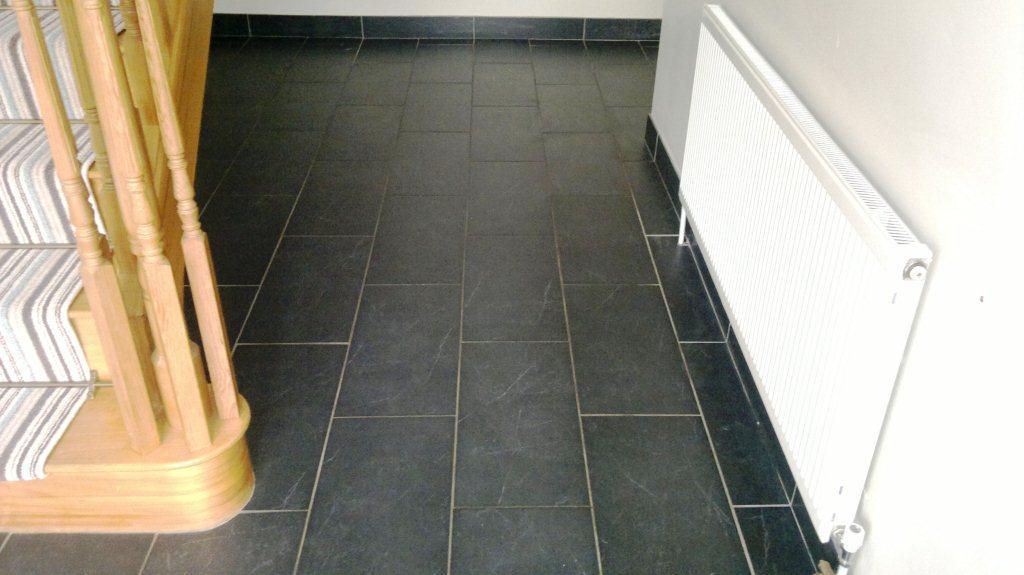 Black Slate Floor Portsmouth Before