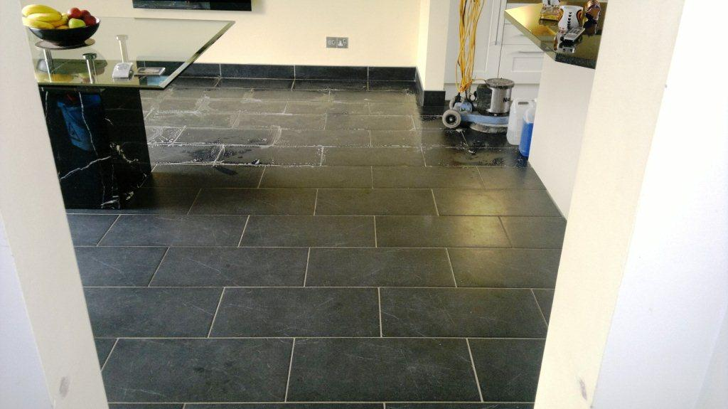 Sealing Black Slate Floor Tiles