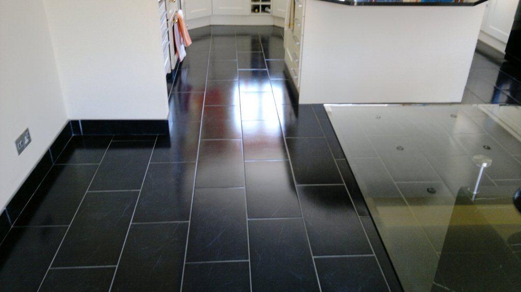 Black Slate Floor Finished