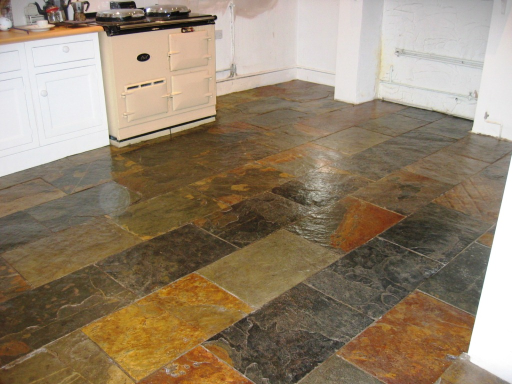 Sealing stone cleaning and polishing tips for slate floors southampton slate tiled floor after cleaning dailygadgetfo Gallery