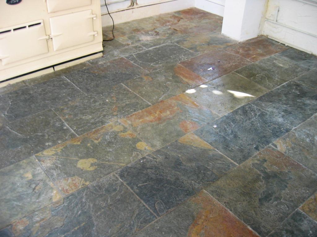 Restoring A Slate Kitchen Floor Stone