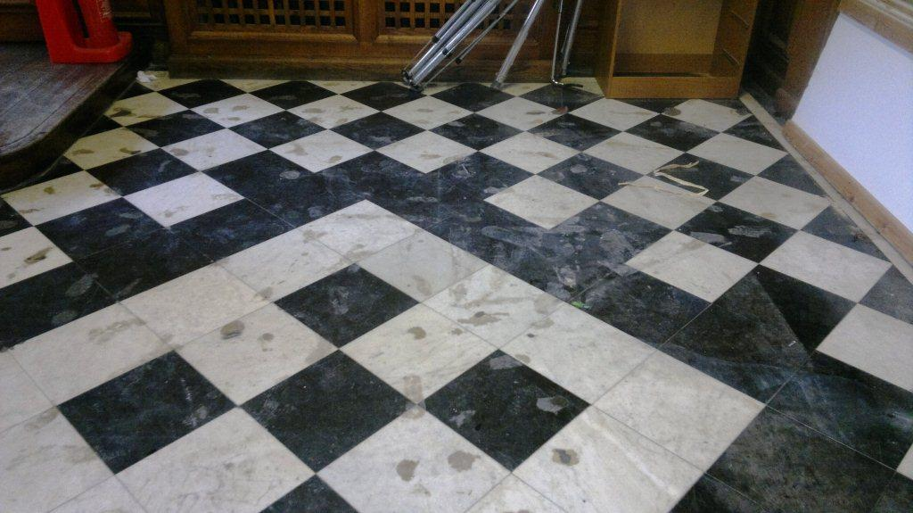 Marble Floor Tile Restoration Winchester Before