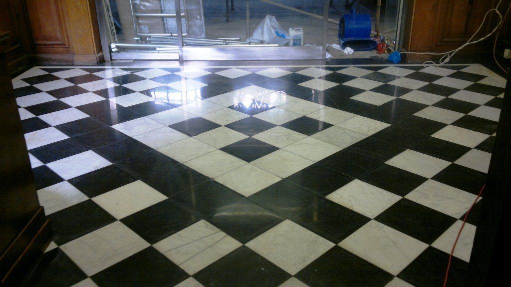 Marble Floor Tile Restoration Winchester Finished