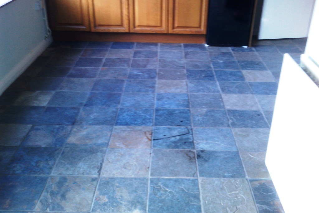 Slate Tile Cleaining Floor Bognor Regis Before