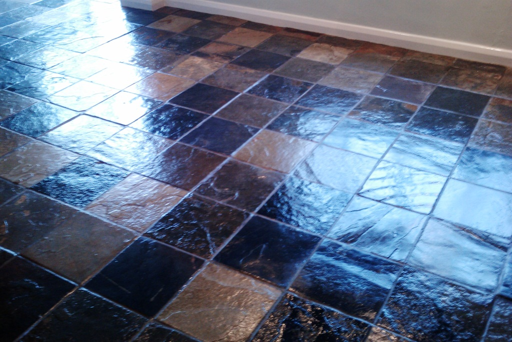 Slate Tile Cleaining Floor Bognor Regis Finish