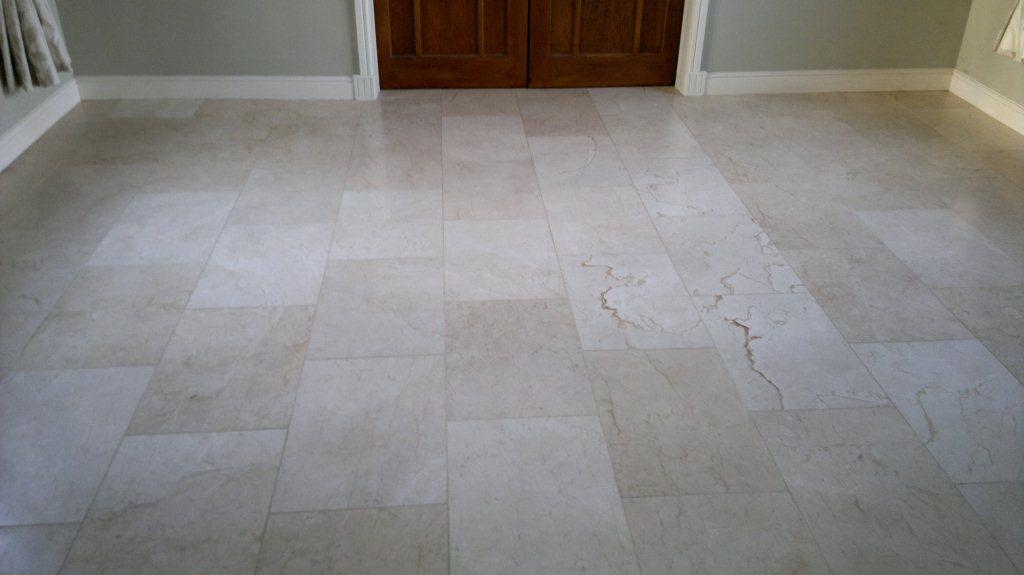 Polished Travertine Lymington Before Cleaining