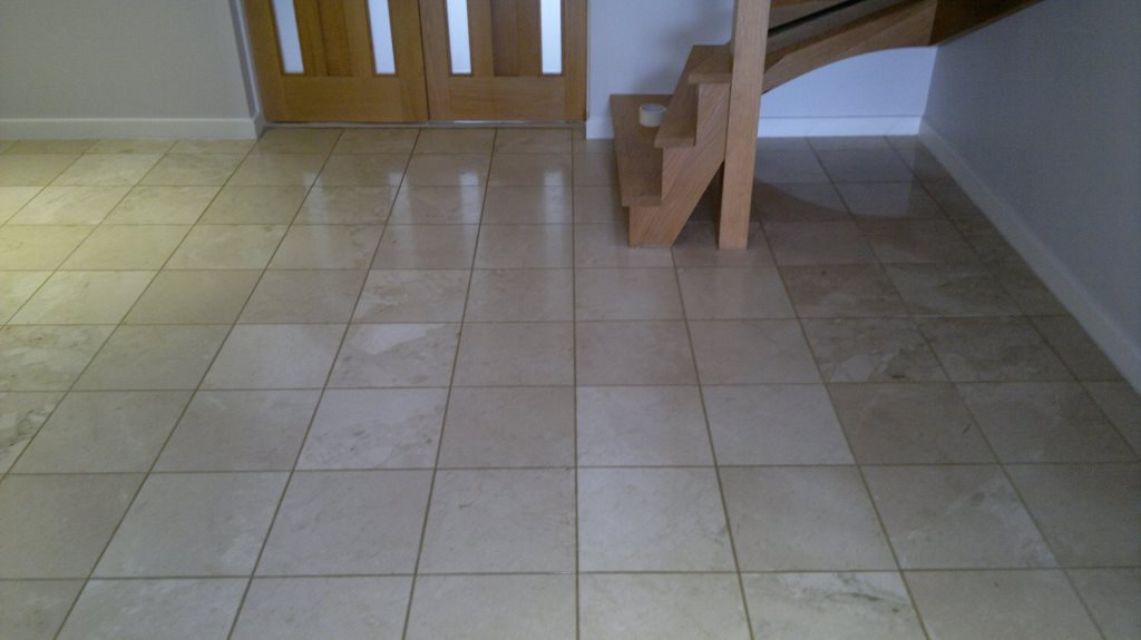 Cleaning & Polishing Marble Floor Tiles in Petersfield | Tile Doctor ...