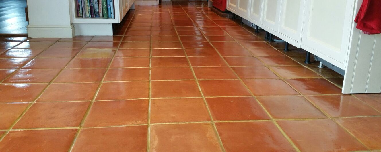 Terra cotta tile flooring