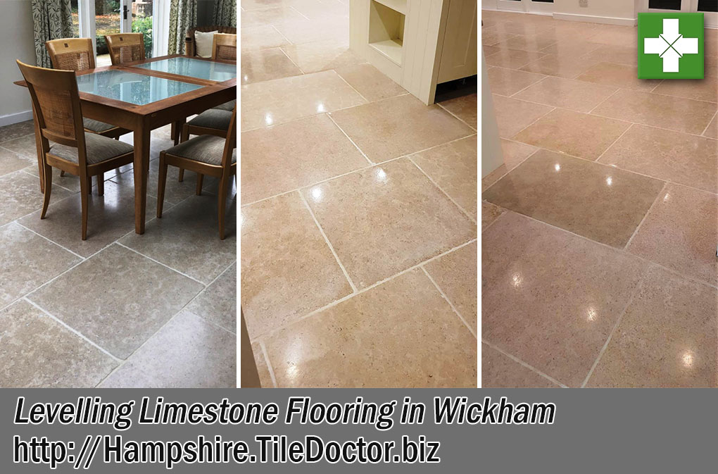 Limestone Patio Before After Levelling Wickham